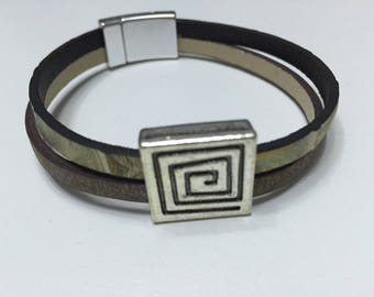 Mixed Brown Leather Bracelet