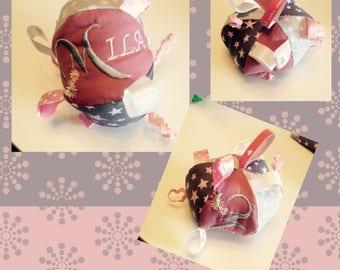 Doudou labels personalized stuffed ball