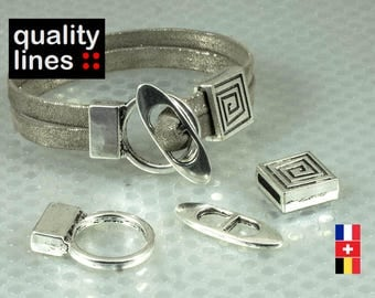Toggle clasp with loop - hole 10mm 2 mm for bracelet clasp