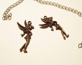 2 bronze fairy charms