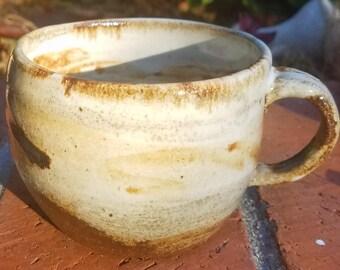 Pottery mug, wheel thrown pottery, rustic pottery mug, hand made