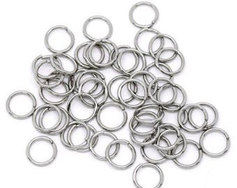 70 rings silver 10 mm x 1 mm, 1 cm