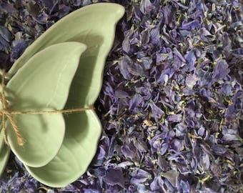 Natural, Biodegradable Confetti - Delphinium Petals