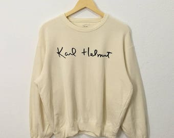 RARE!! Karl Helmut Big Spell Out Front And Back Sweatshirt Jumper Pullover