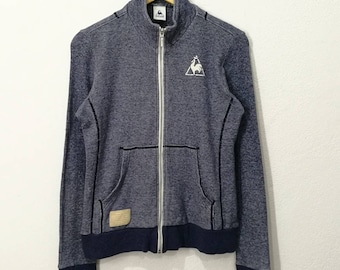 RARE!! Le Coq Sportif Tricolor With Emblem Sweater Jumper Pullover sweatshirt
