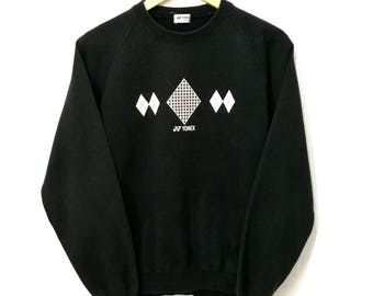 RARE!! Yonex Japan Spell Out Sweatshirt Jumper Pullover Sweater