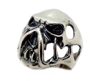 Huge Scull Mutant Men Ring Sterling Solid Silver 925 SKU700140