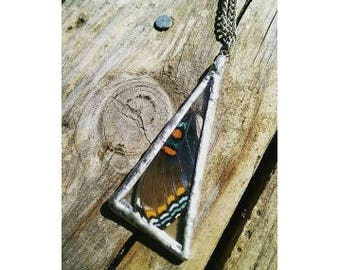 The REAL Red-Spotted Purple (Limenitis Arthemis) butterfly Wing Necklace