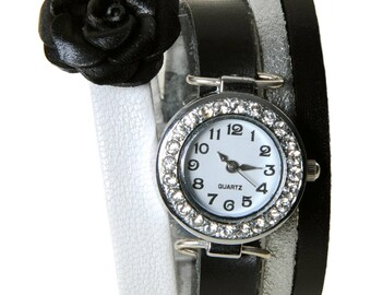 Watch jewelry Paris black and white