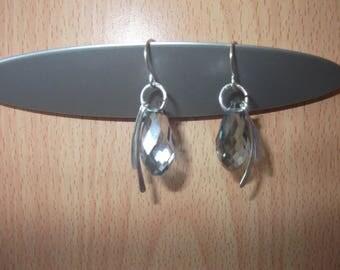 Earrings with glass Teardrop bead