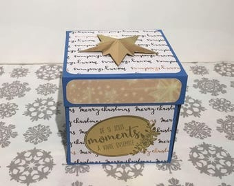 Christmas scrapbooking explosion photo box