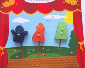 3 buttons for children shaped puppets - ref. 601