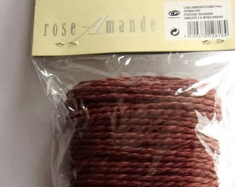 Pack of 20 meters of cord 3 mm BORDEAUX color