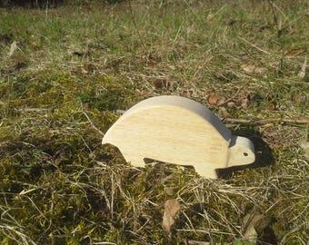 Natural rubberwood, wood turtle figurine ornament