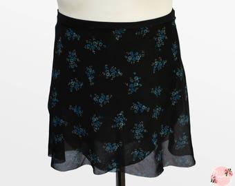 Lia - Ballet Wrap Skirt - Ballet Skirt - Dance Skirt - Floral Ballet Skirt - Flourish Dancewear