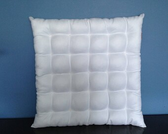 Padded white suede pillow beads
