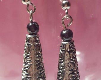 Hematite earrings Celtic style