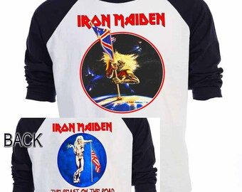 IRON MAIDEN,The Beast on the Road 82-83 Baseball Shirt,All Sizes,653