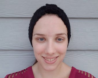 Knitted Headband- Black