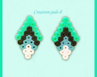 Small diamond chip earrings - pearls Hama Mini