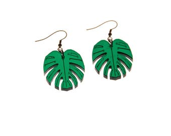"Earrings - Tropical leaf - collection ""Tropicolor"""
