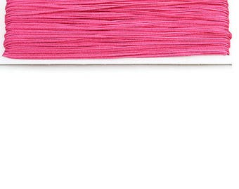 ONE METER OF THREAD FOR SOUTACHE APPROXIMATELY 3.0 MM COLOR PINK