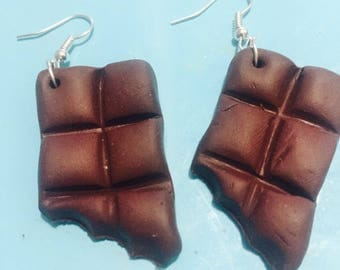 Gourmet Chocolate in Fimo jewelry earrings