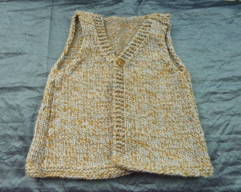 vest mustard and gray boy shape hand made grandfather