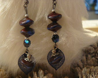 Blue Bohemian earrings