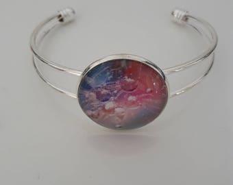 Bracelet silver raindrop multicolor