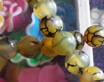 20 beads of agate veins dragon medical virtues in Crystal healing 8mm