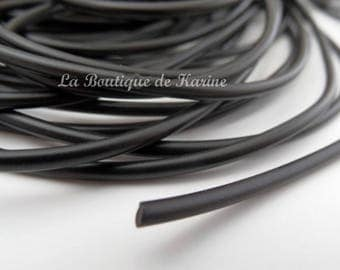 "3 M rubber full ""BUNA CORD"" Ø 3 mm black - creating jewelry beads"
