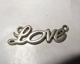 1 charm love connector in silver for pendant