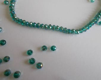 1 set of 20 3 x 4 mm faceted Crystal beads