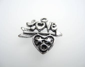 Love Heart charm and message