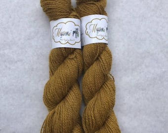 "Hand Dyed Pygora ""Golden Snitch"""
