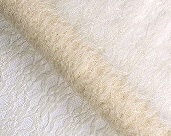 Cream lace for table runner, decoration for any event
