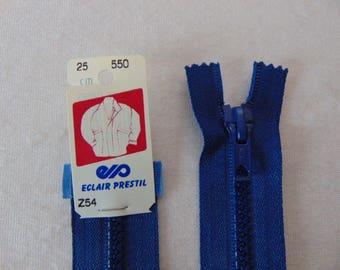 Zipper, molded, bugatti, 25 cm (Z54 550) Blue