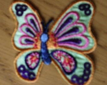 Fusible customization pattern: Green Butterfly