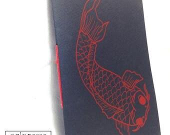 Handmade silkscreen Koi Carp notebook