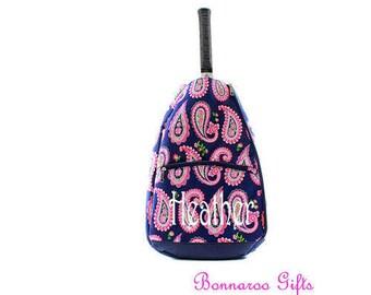 Tennis Racket backpack-tennis bag-Monogram tennis racket bag-personalized tennis racket backpack
