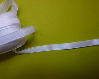 5.70 m beautiful 6 mm wide white satin ribbon