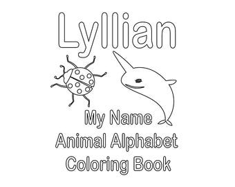 custom coloring pages by name - photo#24