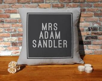 Adam Sandler Pillow Cushion - 16x16in - Grey