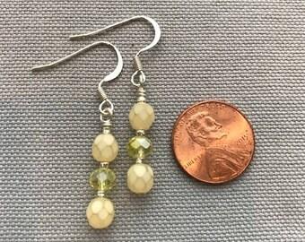 Yellow Swarovski Bead Earrings