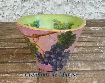 Pine pot authentic terracotta for Landes harvest grapes