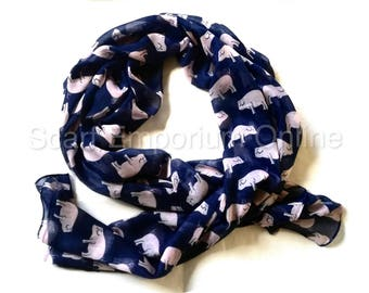 Exquisite  Pink Pig & Blue  Scarf / Fashion Accessories / Women Scarves / Gifts For Her