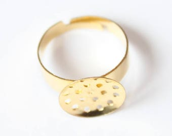 Gold ring, sifter 13 mm, set of 4 tray holder