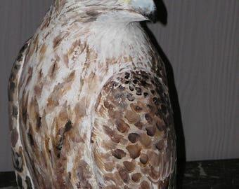 Brown bird sculpture