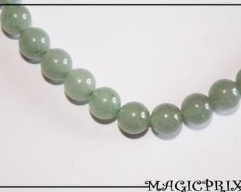 Set of 10 beads natural AVENTURINE Ø 8 mm m2643
